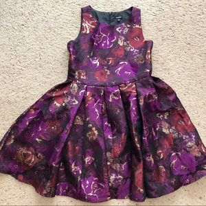 Nordstrom Zunie Girls 12 Purple Floral Dress
